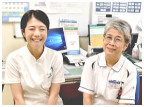 医療法人山下病院 消化器内科医長 / 同 管理栄養士 泉千明さん / 宮田絹江さん
